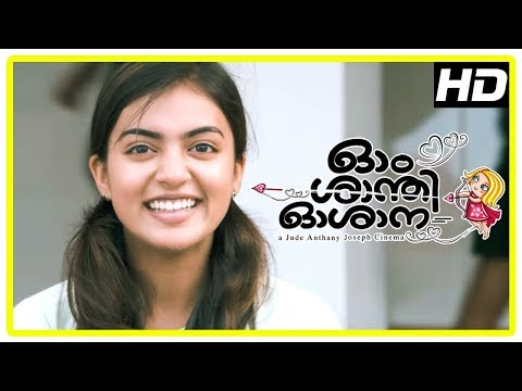 Ohm Shanthi Oshaana Movie Scenes | Nivin intro | Nazriya falls for Nivin Pauly | Aju Varghese