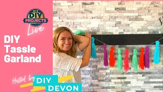 DIY Summer Tassel Garland Banner | DIY Projects Live with Devon June 10, 2021