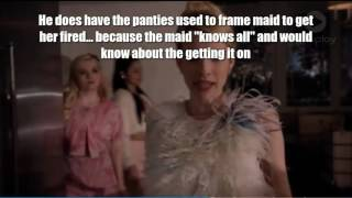 Scream Queens Chad and Chanel 5 Theory, with half phone red devil theory