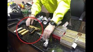 La lujosa pistola que le encontraron a presunto traficante de drogas en Bello