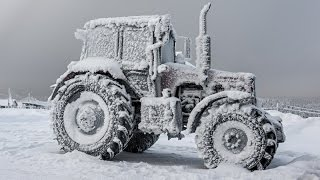 Tractors stuck in snow 1