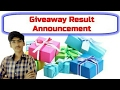 Results of our first giveaway [YT EXPERT]