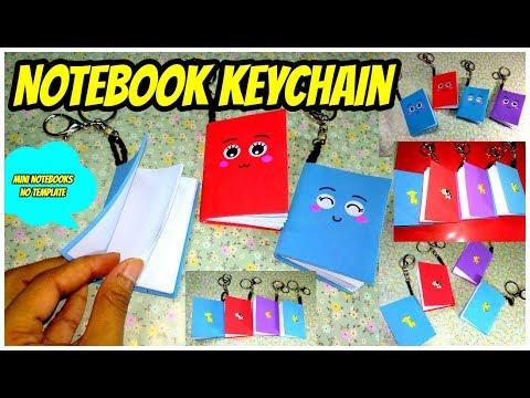 DIY Notebook Keychain Tutorial    Super Easy Kids Crafts