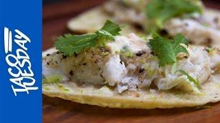 Grilled Catfish Tacos with Habanero Mayo