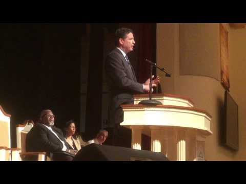 FBI Director James Comey speaks at B-CU