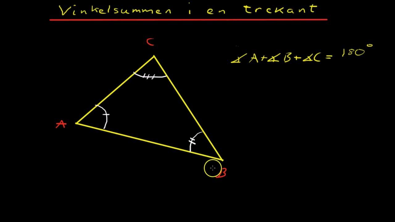 Vinkelsummen i en trekant R1