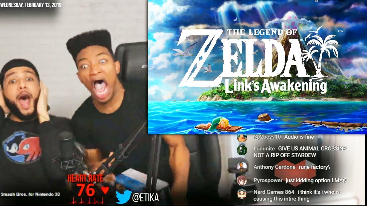 Etika Reacts to The Legend of Zelda: Link's Awakening Remake Reveal Trailer for Nintendo Switch