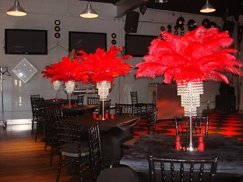Hollywood Themed Red Carpet Centerpieces At The Warehouse