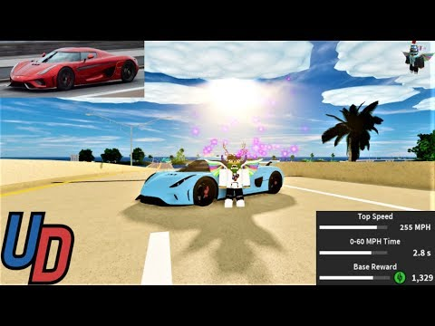 Review of the *NEW* Koenigsegg Regera in Ultimate Driving Roblox!