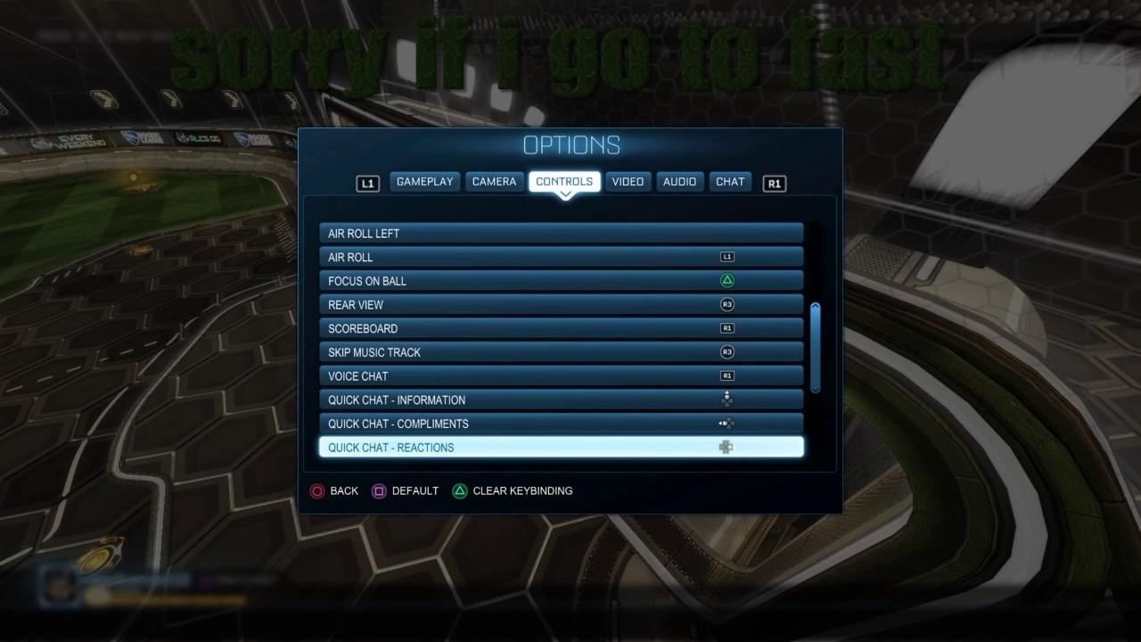 My new rocket league settings
