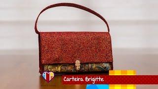 Bolsa carteira em tecidos Brigitte – Maria Adna Ateliê