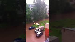 Псков ливень 24.08.2017