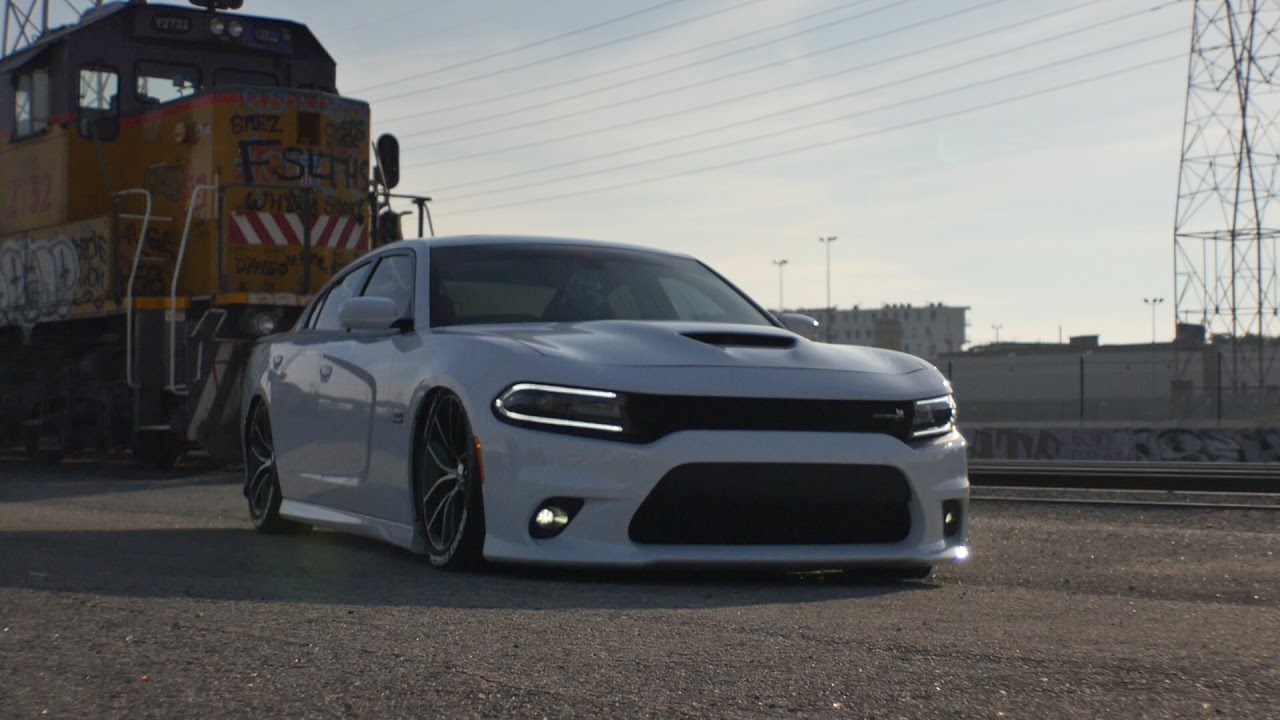 2017 Dodge Charger Hellcat >> Ezra's Bagged Scatpack - YouTube
