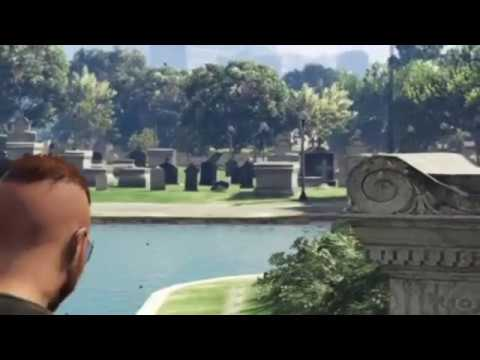 GTA V AUDS MC - Ghost in graveyard during filming of AUDS Recruitment video