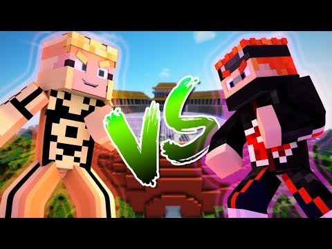 NARUTO VS PAIN MINECRAFT ( Ft FrozenCrystal )
