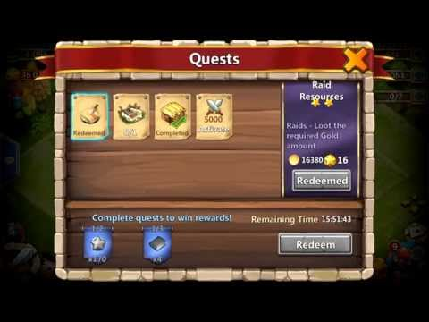 Castle Clash Free Talent Re-Rolls Brought To Us With Brand New Quest Board!