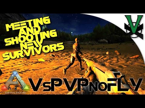 Meeting And Shooting New Survivors! VsPVP Sub Server | ARK: