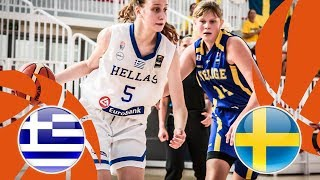 Greece v Sweden - Full Game - FIBA U16 Women's European Championship Division B 2018