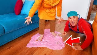 İn The House SLİME Prank! & I Spilled Slime in Ayşe's House Home Very Polluted