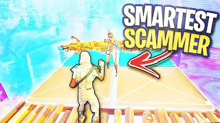 The SMARTEST scammer in Season 10...🤓 (Scammer Gets Scammed) In Fortnite Save The World