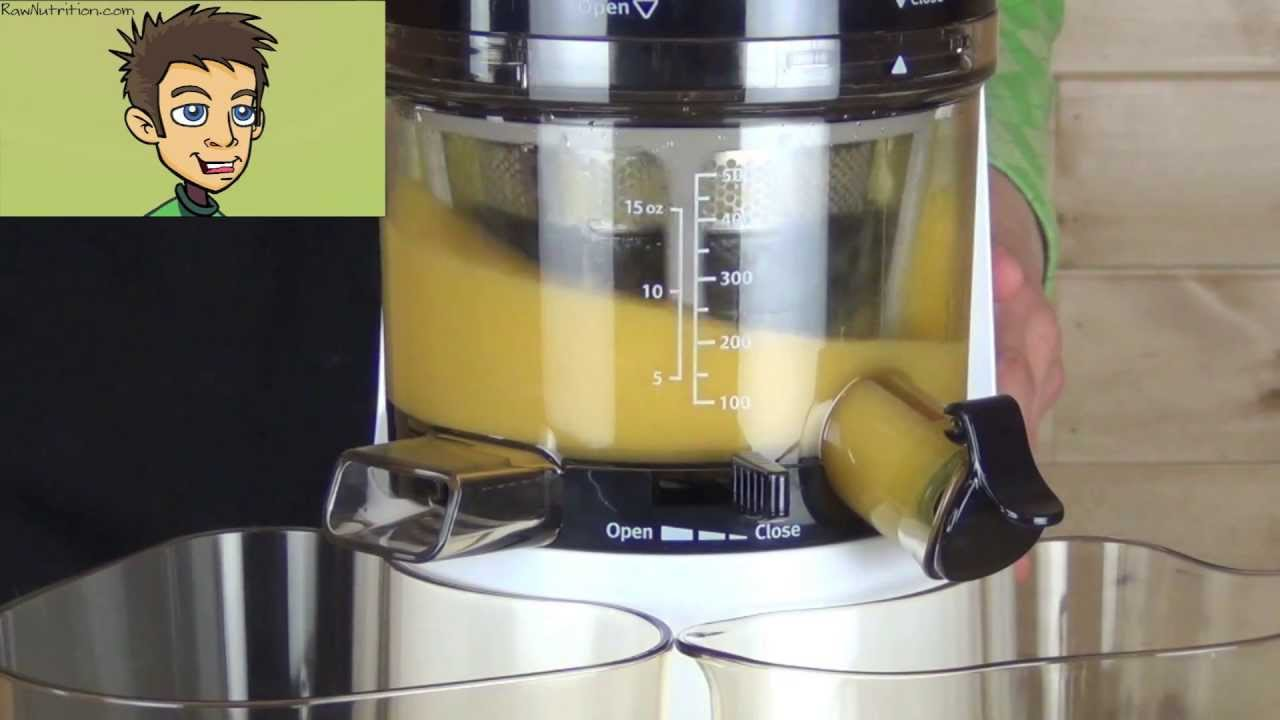 Hurom Premium Slow Juicer Hh Wbb07 : Hurom Premium HH Series Slow Juicer & Smoothie Maker Demo in the Raw Nutrition Kitchen - YouTube