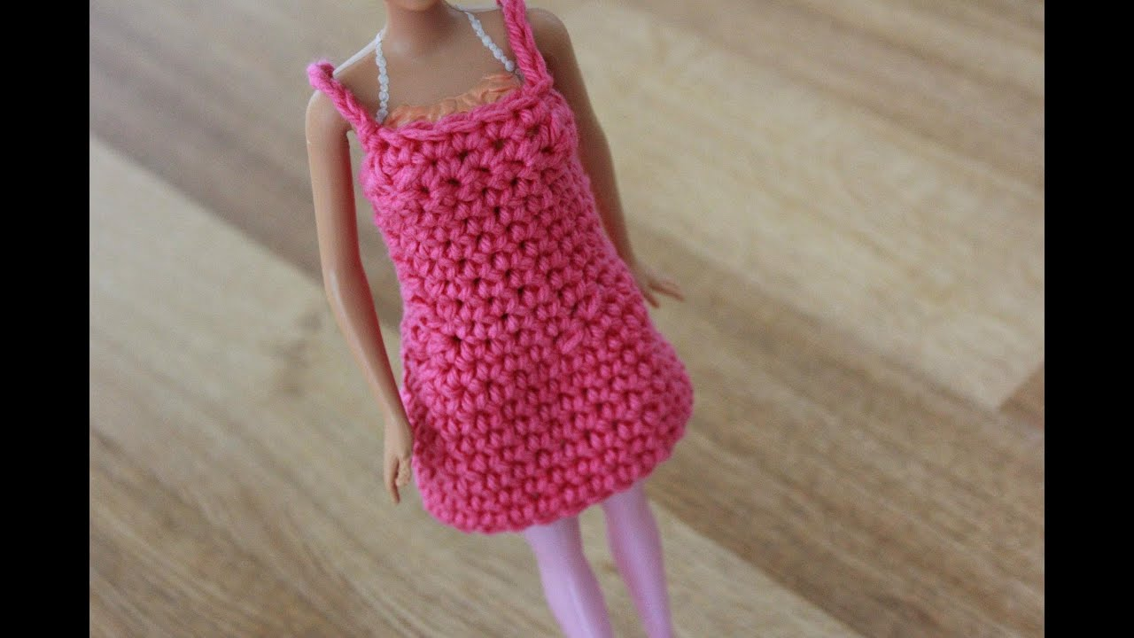 Crochet Barbie : Crochet Barbie Dress Tutorial Pattern - Right Handed - YouTube