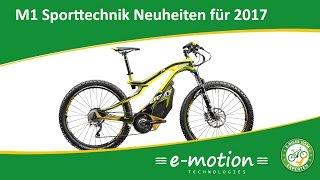 M1 Sporttechnik: e-Bike Neuheiten 2017 – M1 Sterzing und ein neues Display für 2017