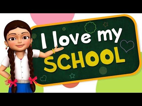 I Love My School | Hindi Rhymes for Children | Infobells