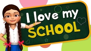 I Love My School | Hindi Rhymes for Children | Infobells