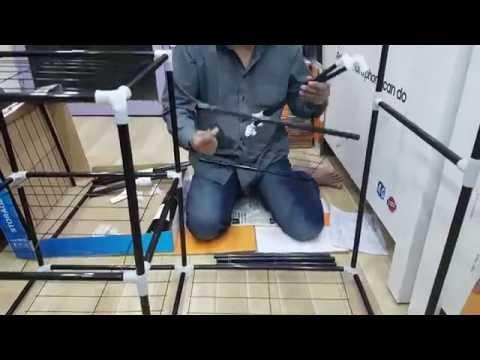 Nadiaz Folding Canvas Wardrobe Assembling Method