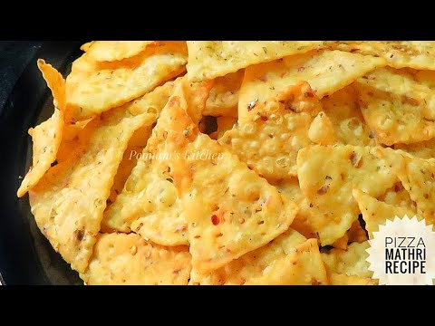 Mathri Recipe/ Pizza Mathri Recipe In Hindi - Diwali Special Snacks Recipe - How To Make Mathri