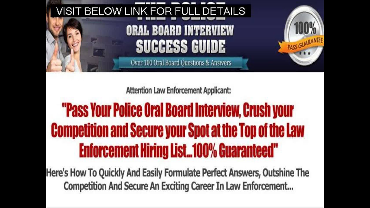 police promotion interview questions police test preparation police promotion interview questions police test preparation police oral board interview review