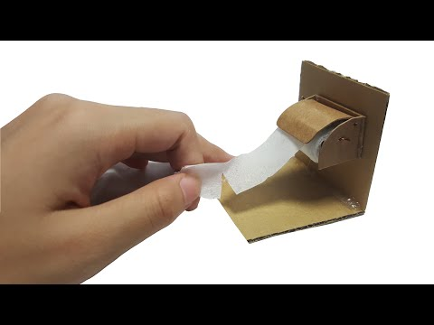 DIY Miniature Toilet Paper Roll