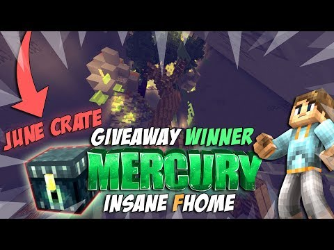 FHOME DESIGN + GIVEAWAY WINNER !!! | Ep.2 | Minecraft Factions Mercury ( SpaceRealms )