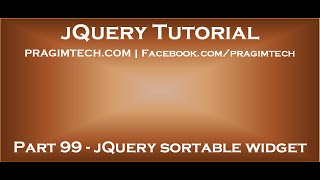 jQuery sortable widget