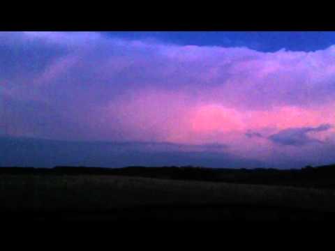 Incredible light show in Gardenton, Manitoba, July 29, 2012