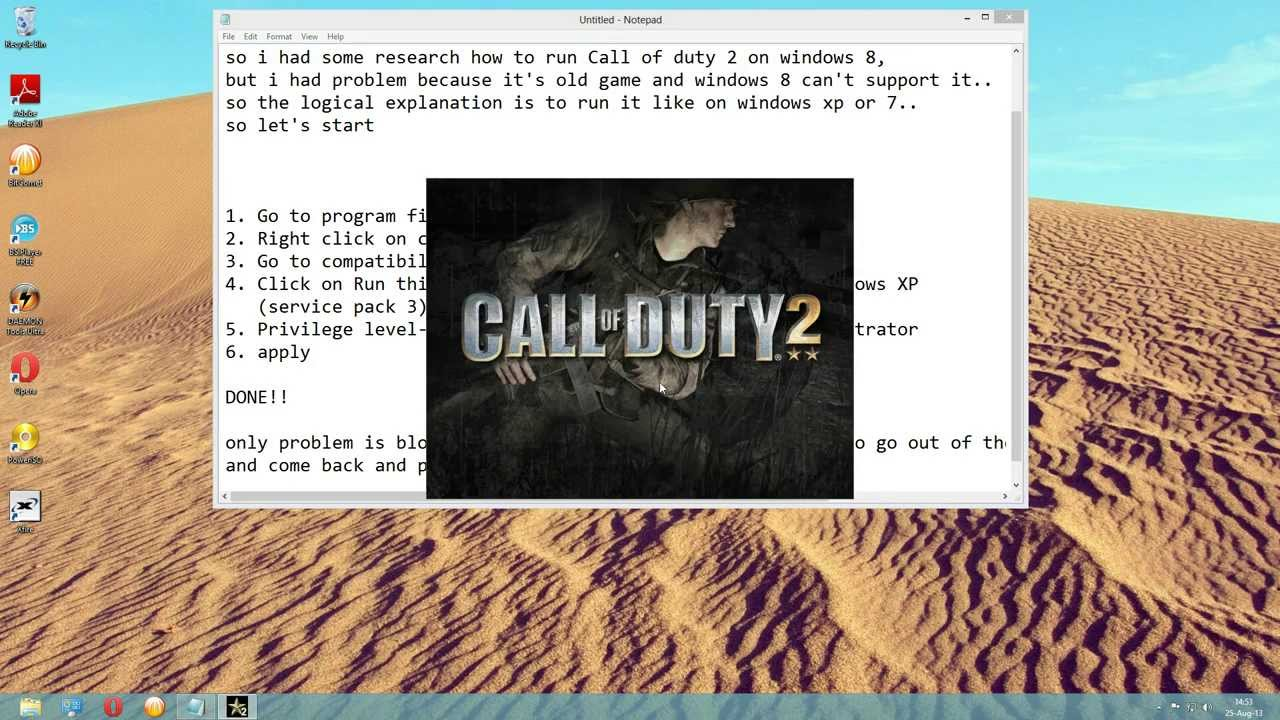 how to get call of duty working in windows 10