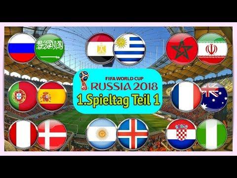 FIFA 18 WM - Prognose I 1.Spieltag (1/2) I Alle Spiele, alle Tore Deutsch (HD)