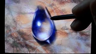 Drawing Water Drop, Drawing on a touch screen of  phone, Time Lapse