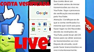 Como verificar a conta do YouTube  pra fazer Live!!!