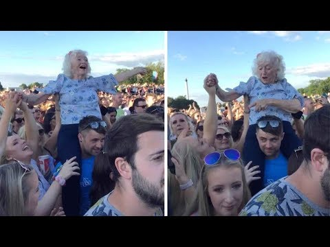 Don Action Jackson - Grandma Enjoys Rock Festival On Someone's Shoulders (NSFW)