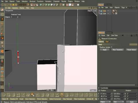 Cinema 4D, Aligning objects