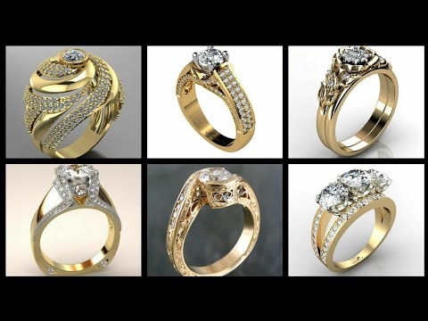 latest-design's-gold-and-diamond-rings-and-bands-collection-for-wedding-and-engagement