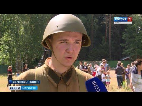 На Яльчике реконструировали бой первых дней Великой Отечественной войны
