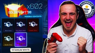 Opening 600 GOLDEN GIFT 2020 Crates in Rocket League for 600,000 SUBSCRIBERS!