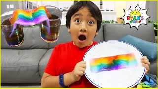 DIY Rainbow Science Experiments with 1hr activities for kids to do at home!!