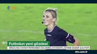 Futbolun yeni gözdesi...  28 yaşındaki hakem Fernanda Colombo