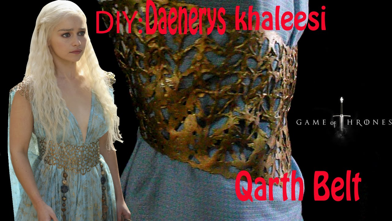 Diy khaleesi daenerys qarth belt cheap and easy youtube diy khaleesi daenerys qarth belt cheap and easy solutioingenieria Choice Image
