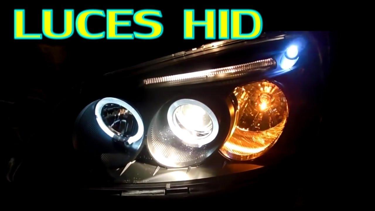Instalacion electrica de luces frontales con ojo de angel