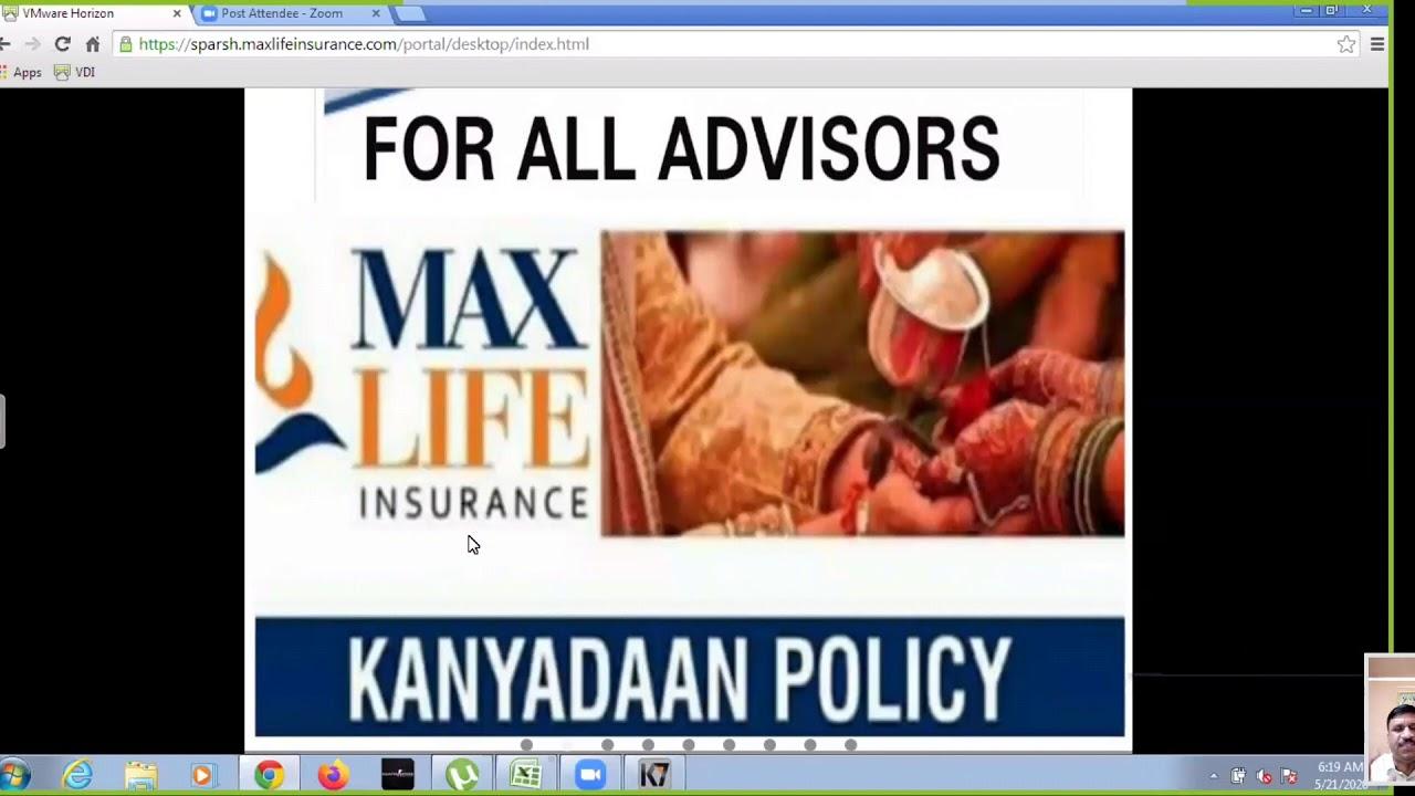 Max Life Insurance company policy(2) - YouTube